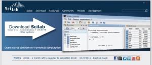 scilab ダウンロード画面
